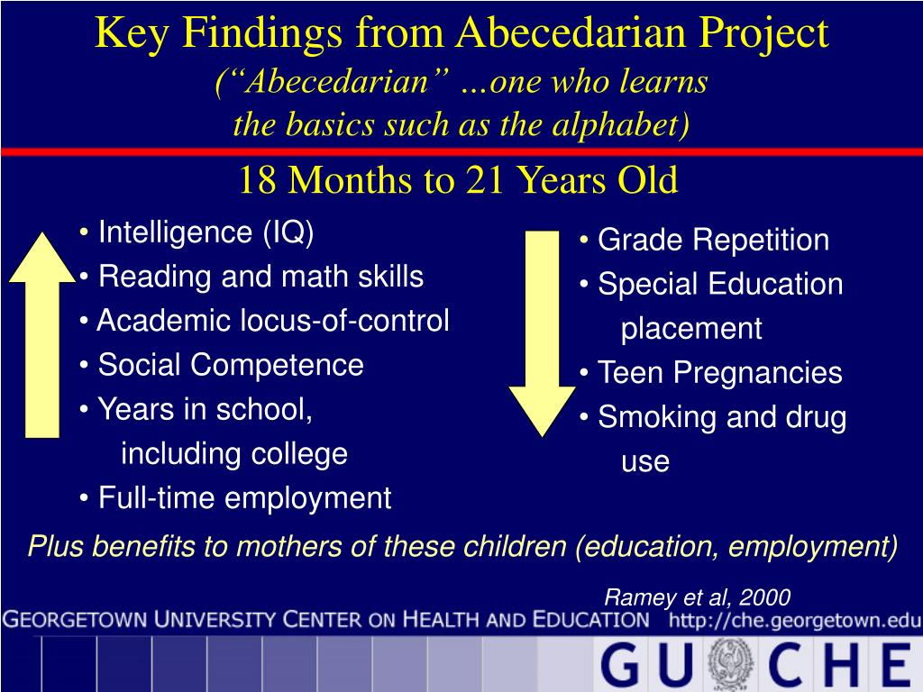 Key Findings from Abecedarian Project