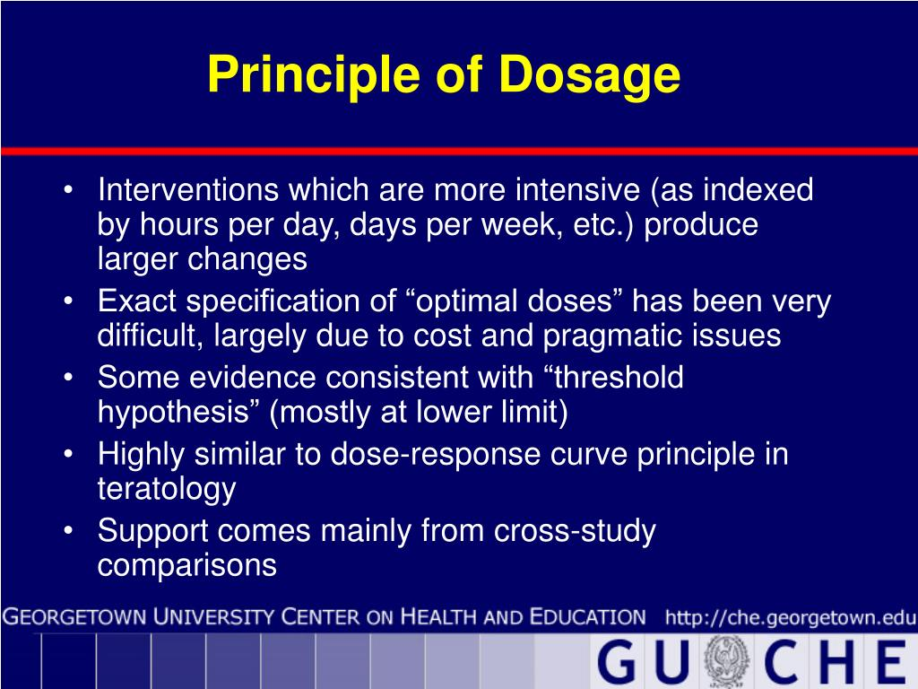 Principle of Dosage
