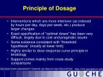 principle of dosage