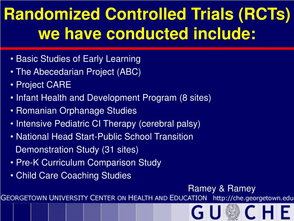 Randomized Controlled Trials (RCTs)