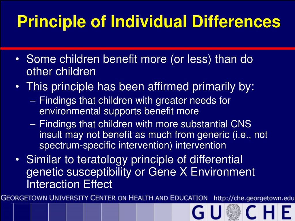 Principle of Individual Differences