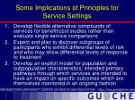 some implications of principles for service settings