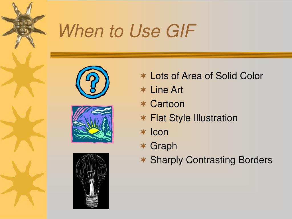 When to Use GIF