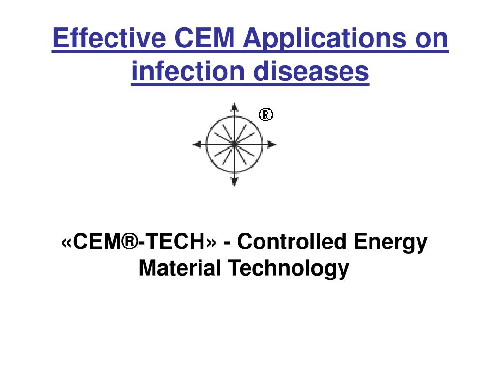 Effective CEM Applications on infection diseases