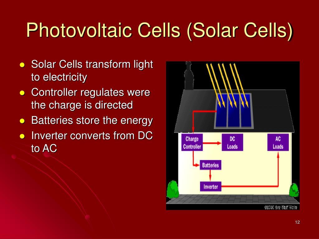 Photovoltaic Cells (Solar Cells)