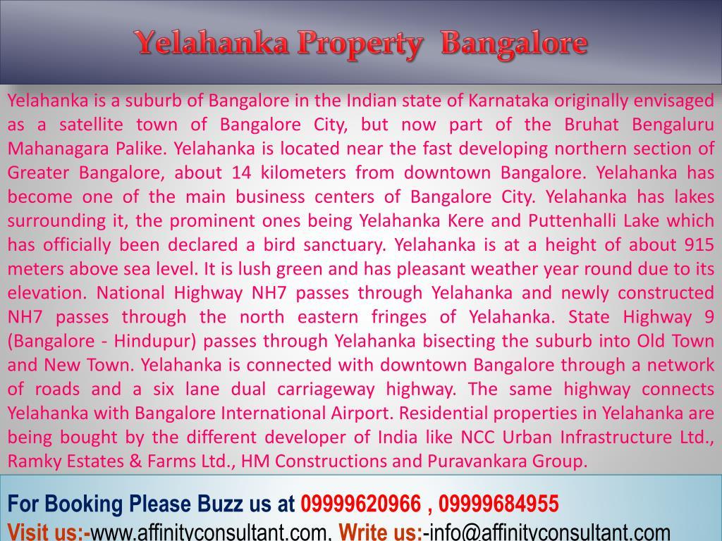 Yelahanka Property  Bangalore