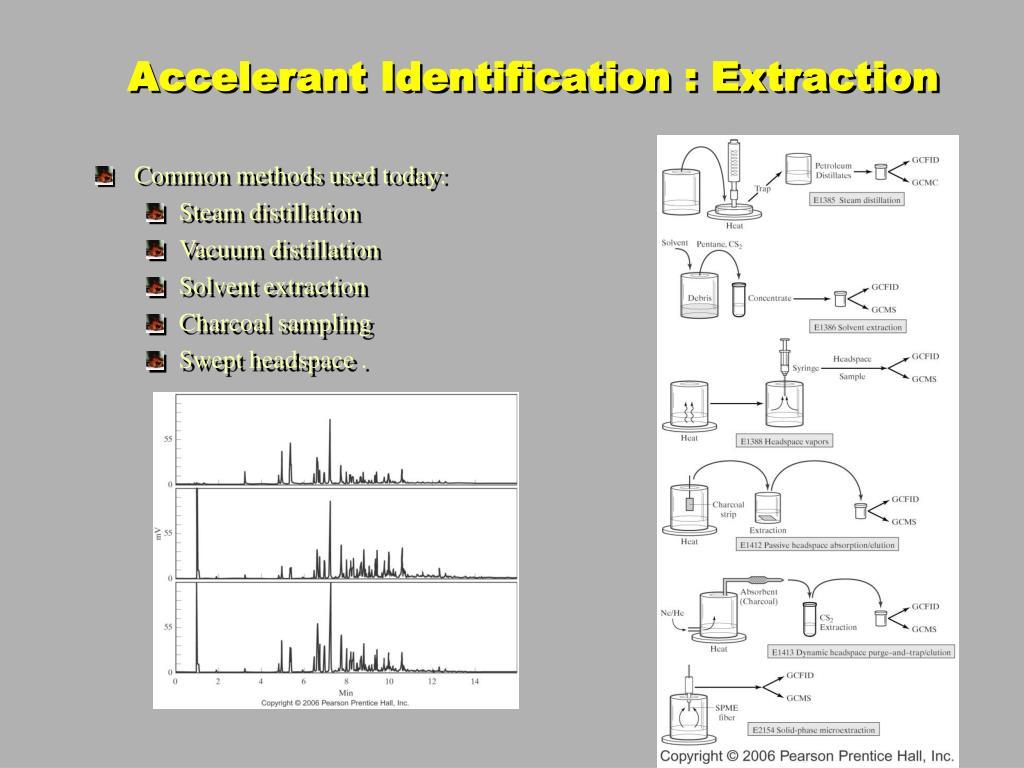 Accelerant Identification : Extraction