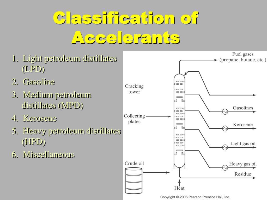 Classification of Accelerants
