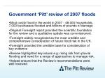 government pitt review of 2007 floods