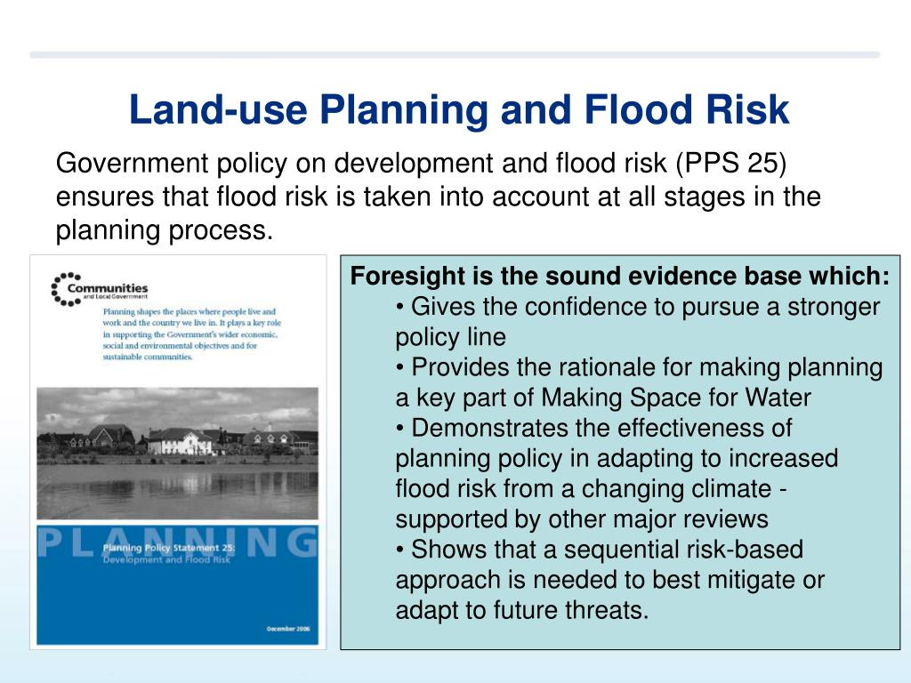 Land-use Planning and Flood Risk