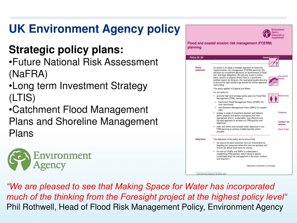 UK Environment Agency policy
