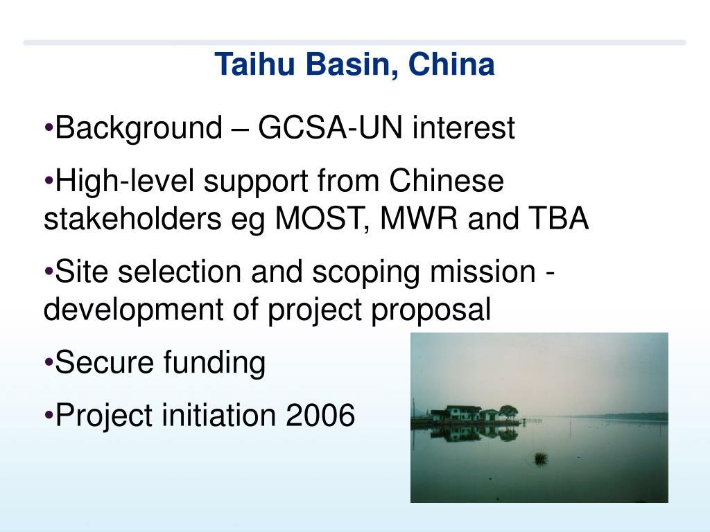 Taihu Basin, China