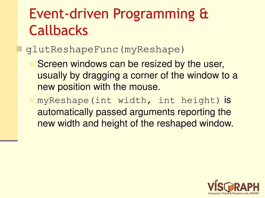 Event-driven Programming & Callbacks