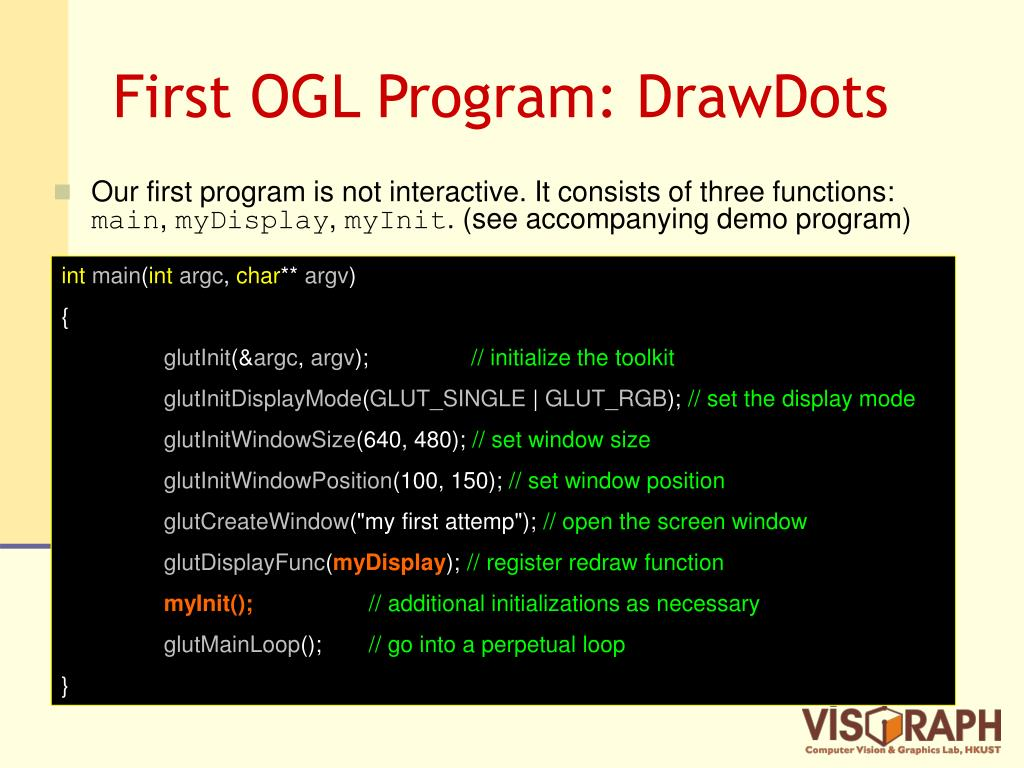 First OGL Program: DrawDots