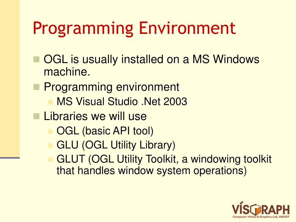 Programming Environment