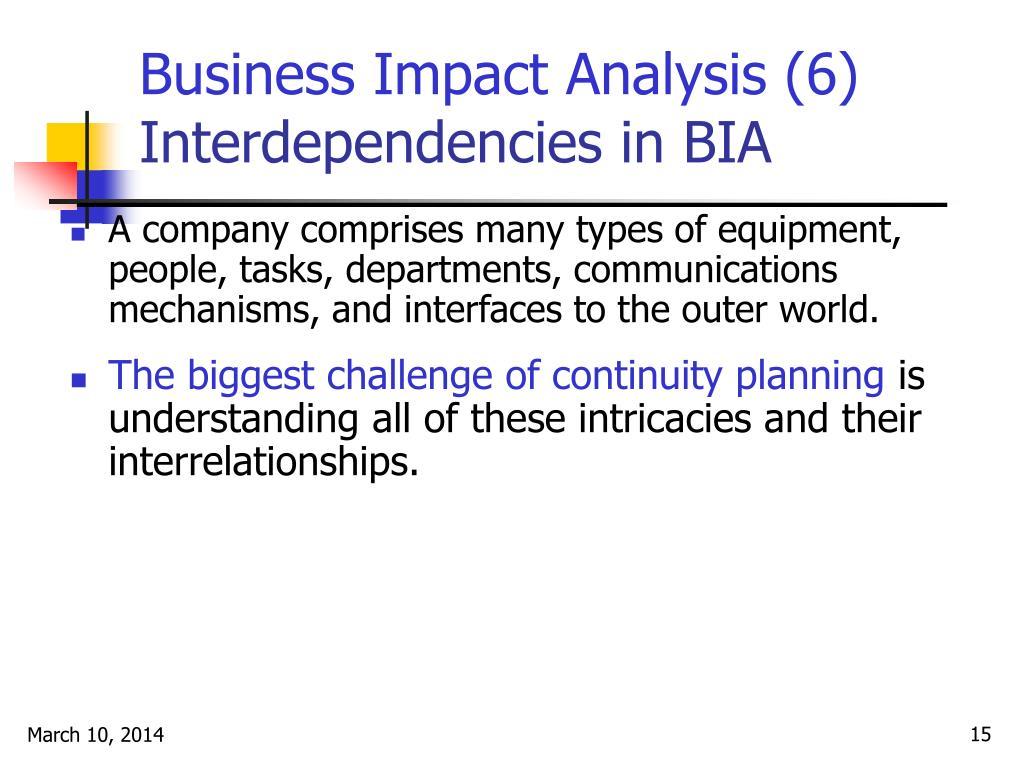Business Impact Analysis (6)