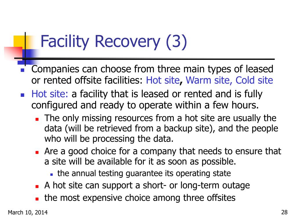 Facility Recovery (3)