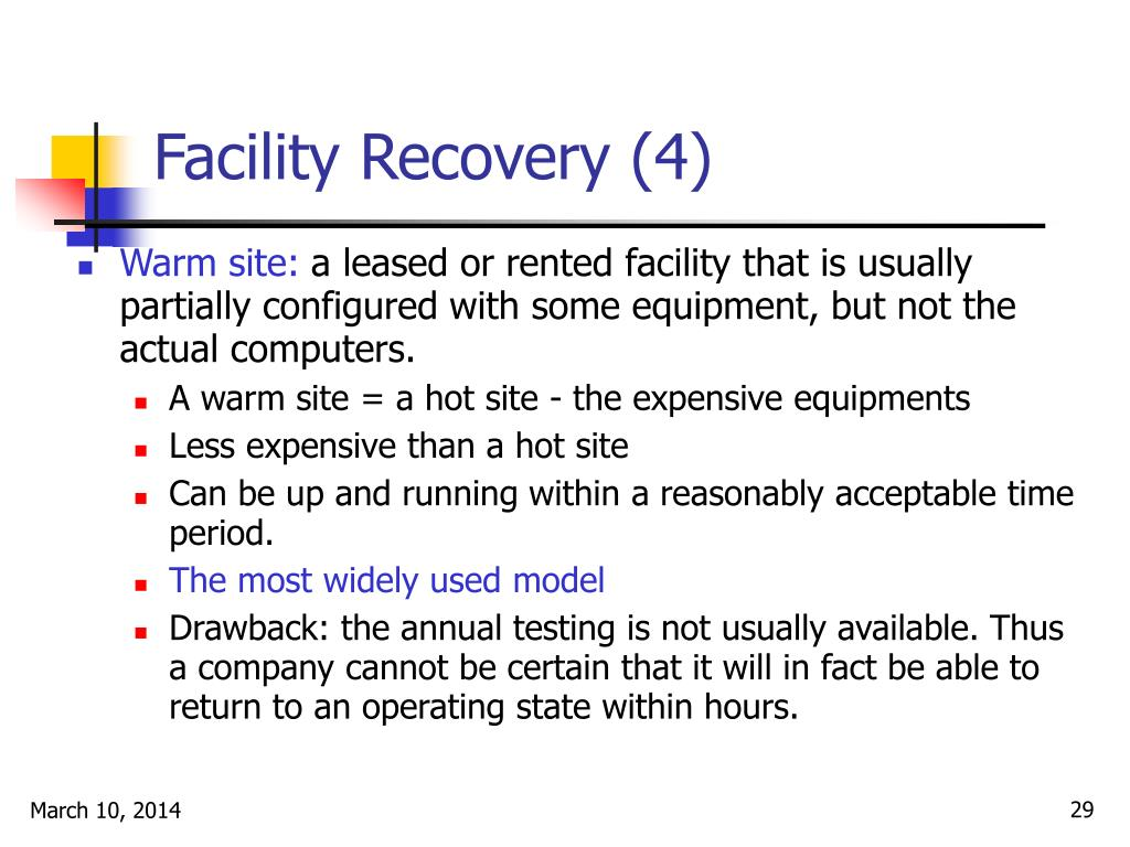 Facility Recovery (4)