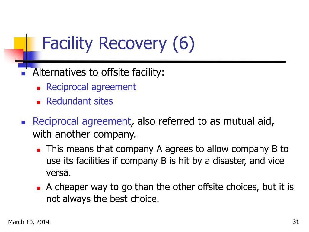 Facility Recovery (6)