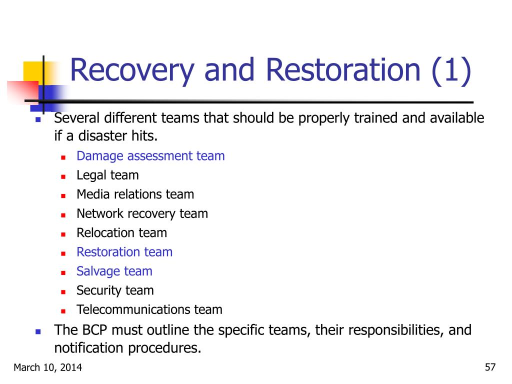 Recovery and Restoration (1)
