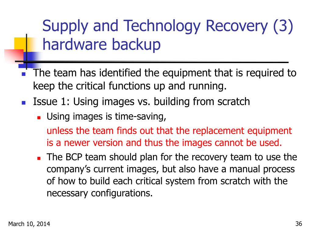 Supply and Technology Recovery (3)