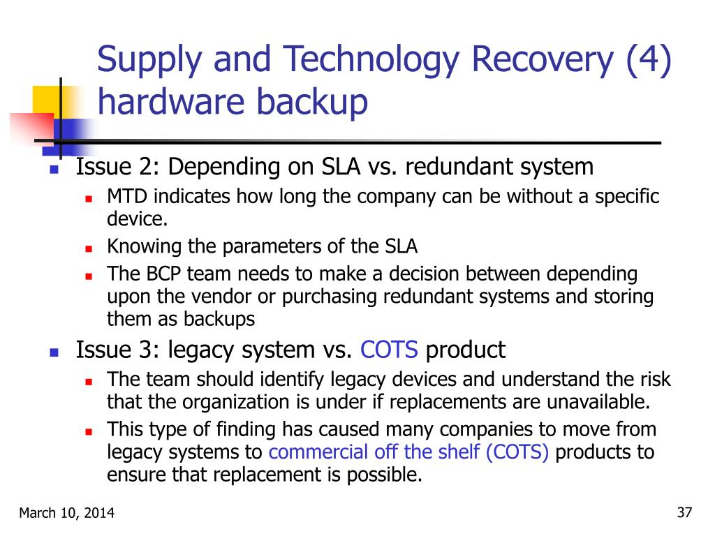 Supply and Technology Recovery (4)