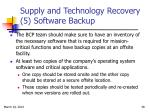 supply and technology recovery 5 software backup