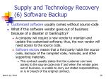 supply and technology recovery 6 software backup
