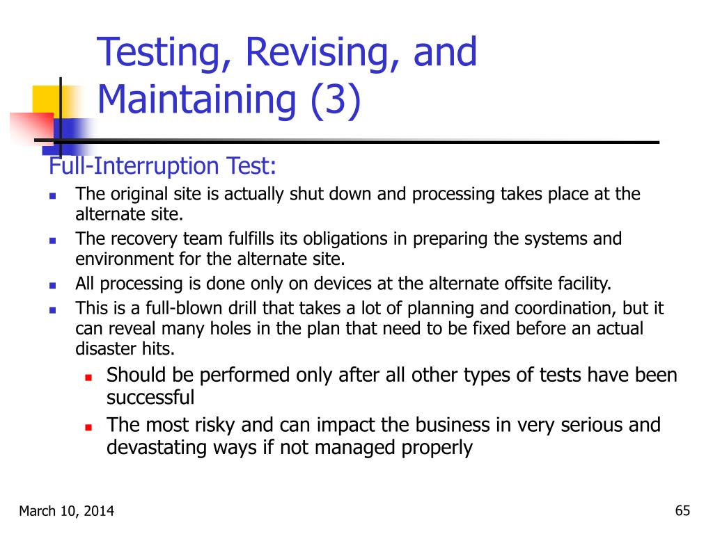 Testing, Revising, and Maintaining (3)