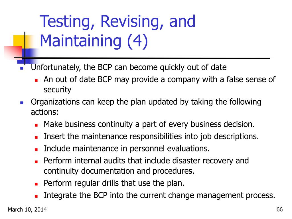Testing, Revising, and Maintaining (4)
