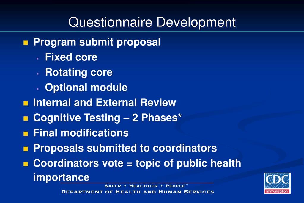 Questionnaire Development