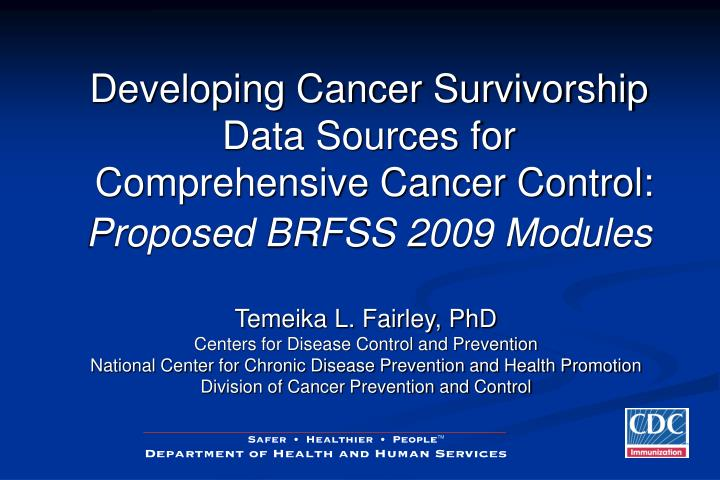 Developing Cancer Survivorship Data Sources for