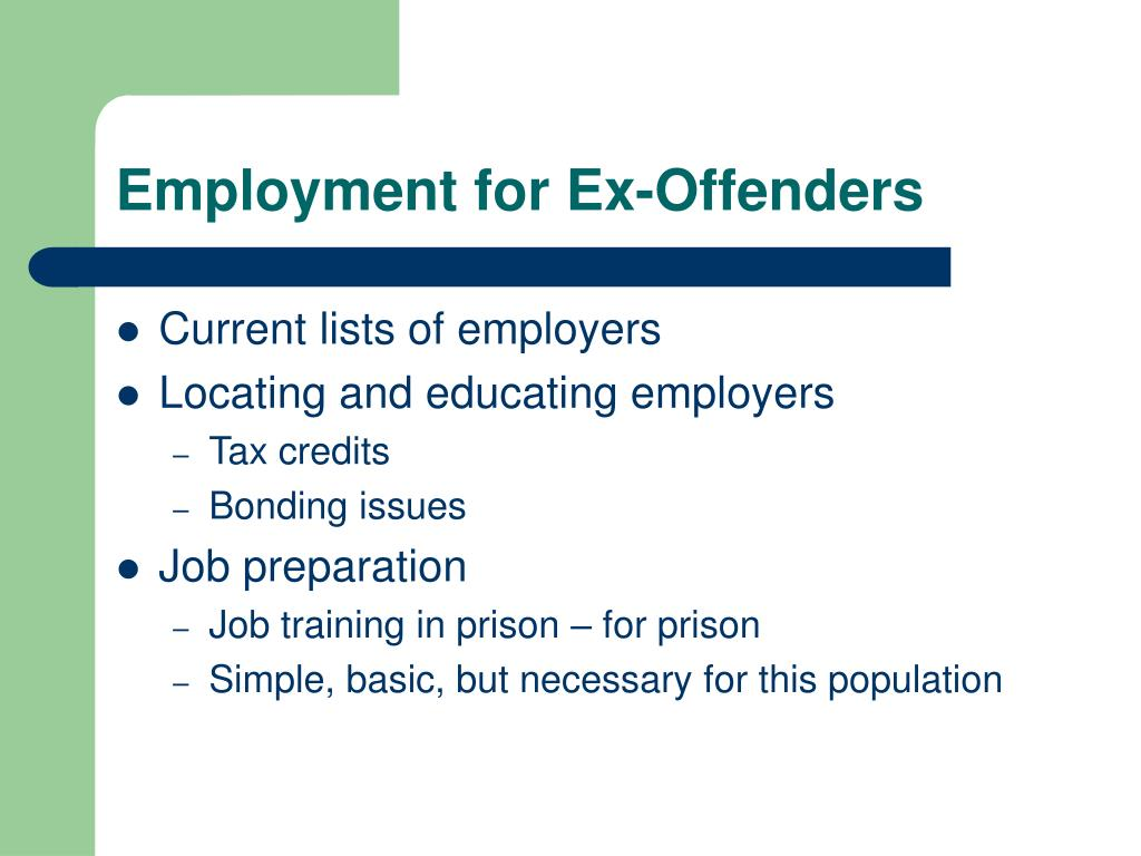 Employment for Ex-Offenders