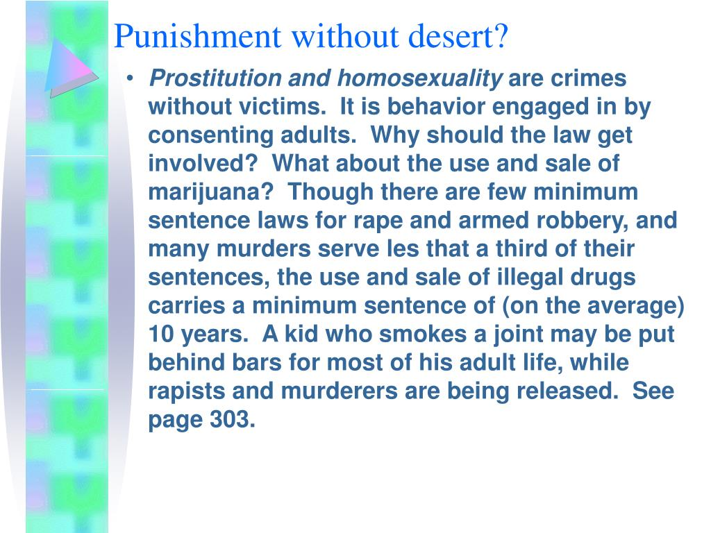 Punishment without desert?