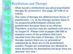 retribution and therapy
