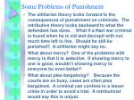 some problems of punishment