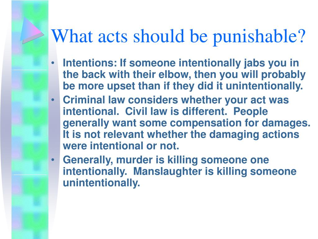 What acts should be punishable?
