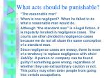 what acts should be punishable5