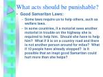 what acts should be punishable8