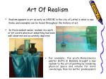 art of realism