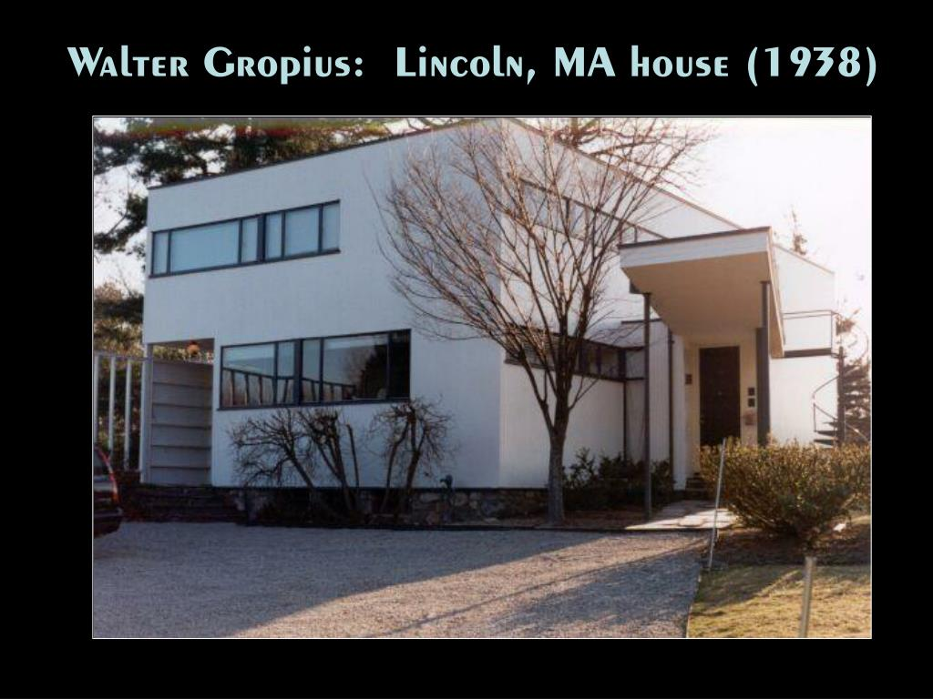 Walter Gropius:  Lincoln, MA house (1938)
