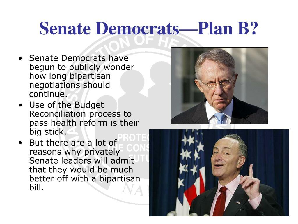 Senate Democrats have begun to publicly wonder how long bipartisan negotiations should continue.
