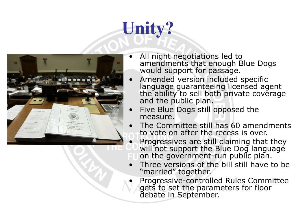 All night negotiations led to amendments that enough Blue Dogs would support for passage.