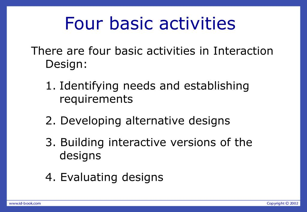 Four basic activities