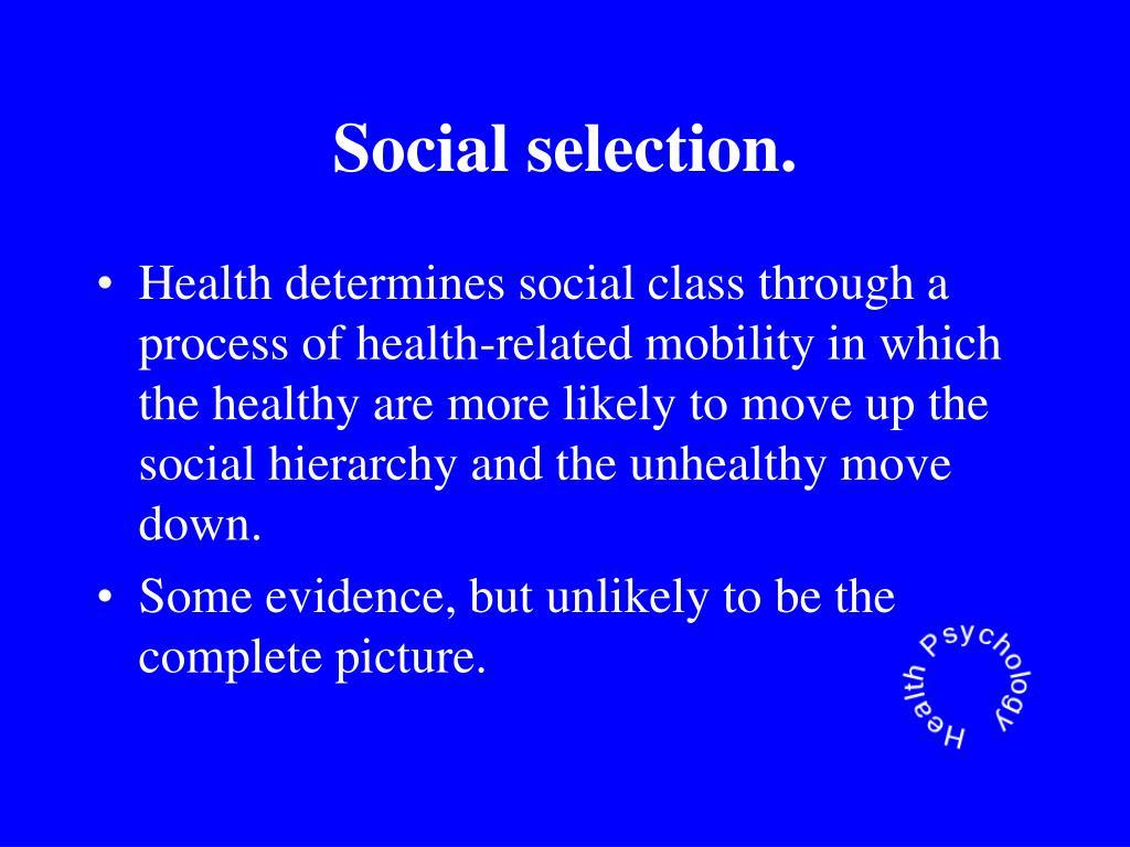 Social selection.