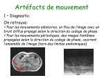 art facts de mouvement