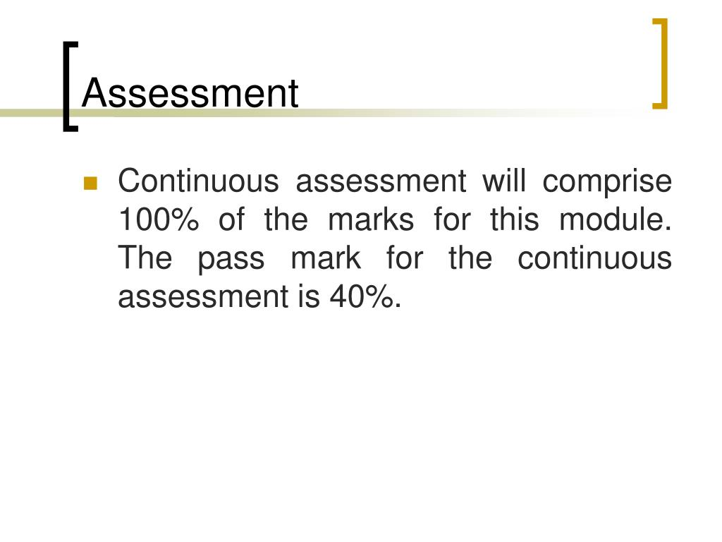 continuous assessments essay