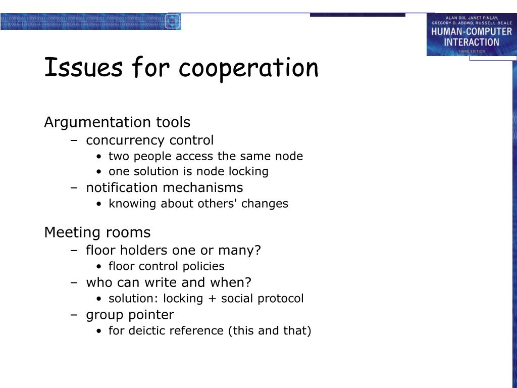 Issues for cooperation