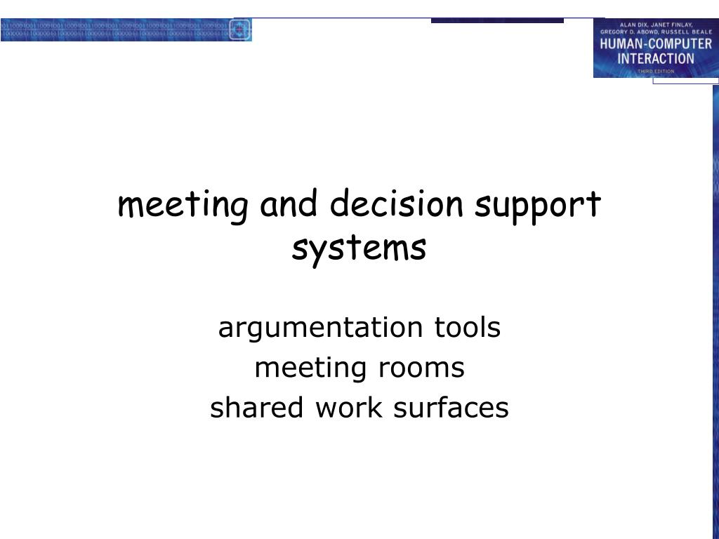 meeting and decision support systems