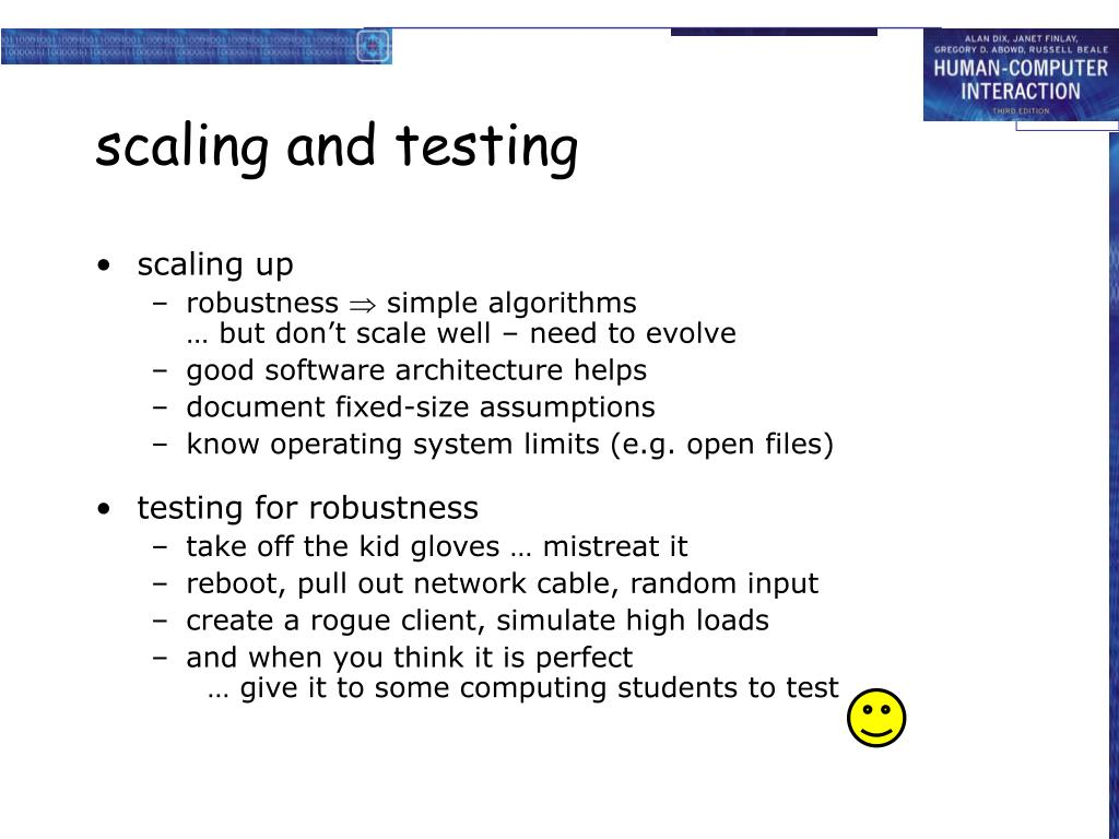 scaling and testing